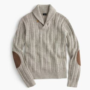 J Crew Cotton Mariner Shawl Collar Sweater